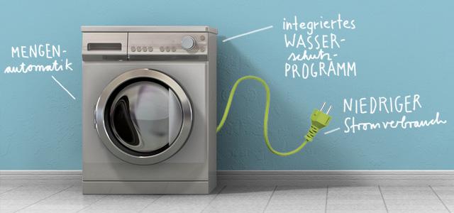 Waschmaschine mit niedrigem Stromverbrauch