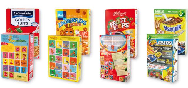 Müsli und Ceralien für Kinder: meist viel zu süß