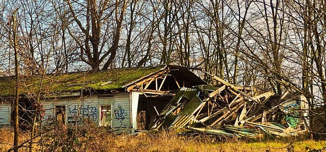 Holzhäuser Holzhaus Ruine