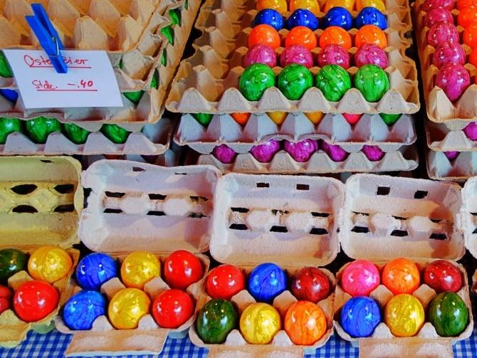 Gefärbte Eier sind selten Bio-Eier