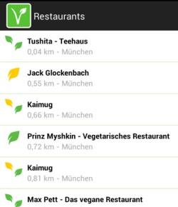 Vebu-App: Restauranttipps in der Nähe
