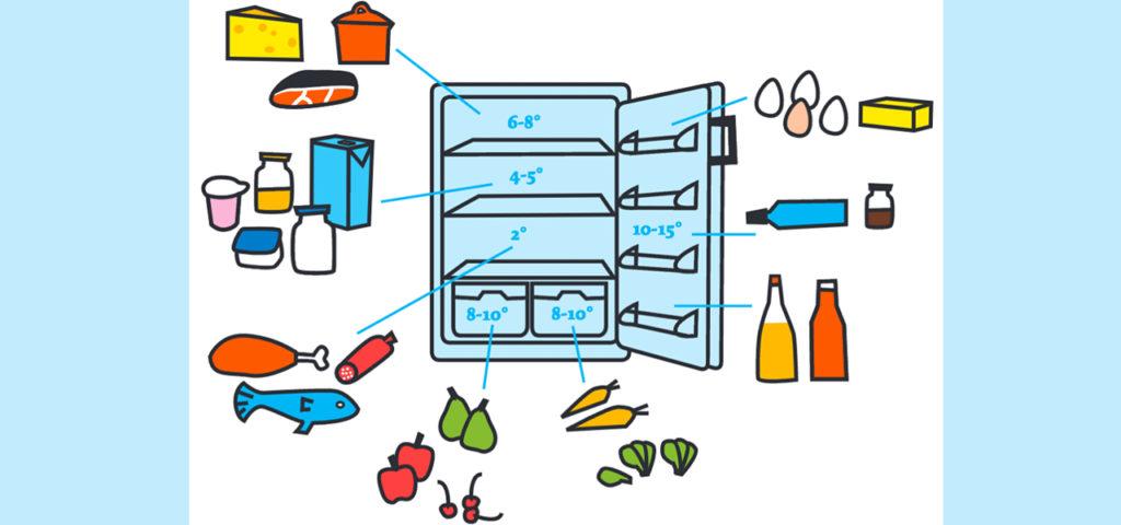 Lebensmittel richtig lagern & richtige Kühlschrank-Temperatur einstellen