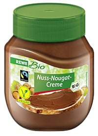 Rewe Bio Nuss-Nougat-Schokocreme - Nutella Alternative