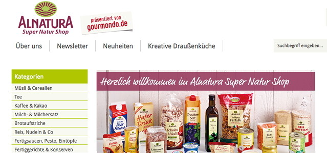 Alnatura online shop