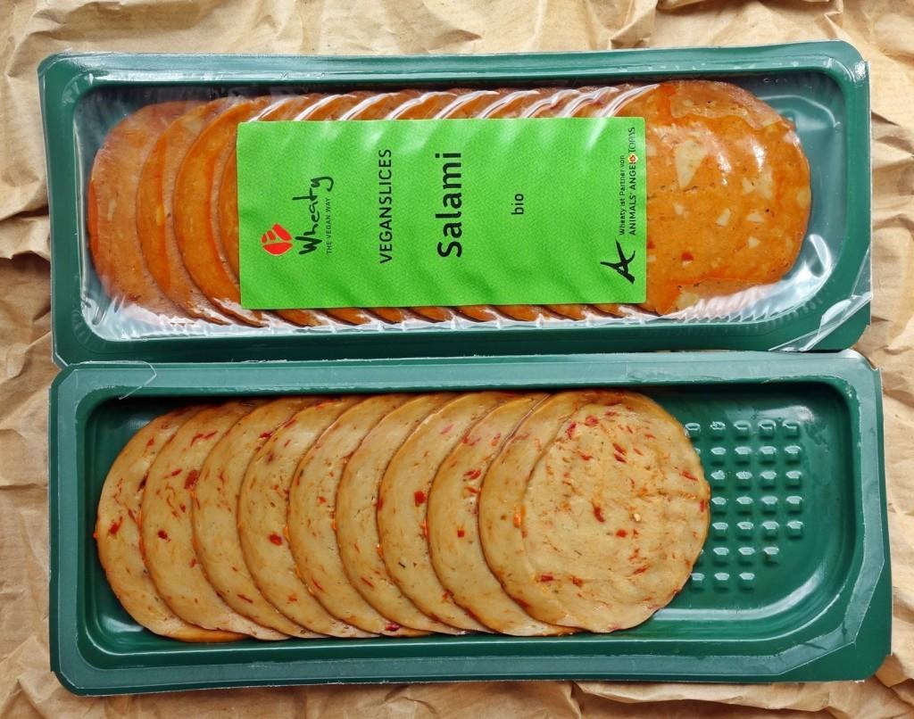 Wheaty Veganslices Salami und Paprikalyoner