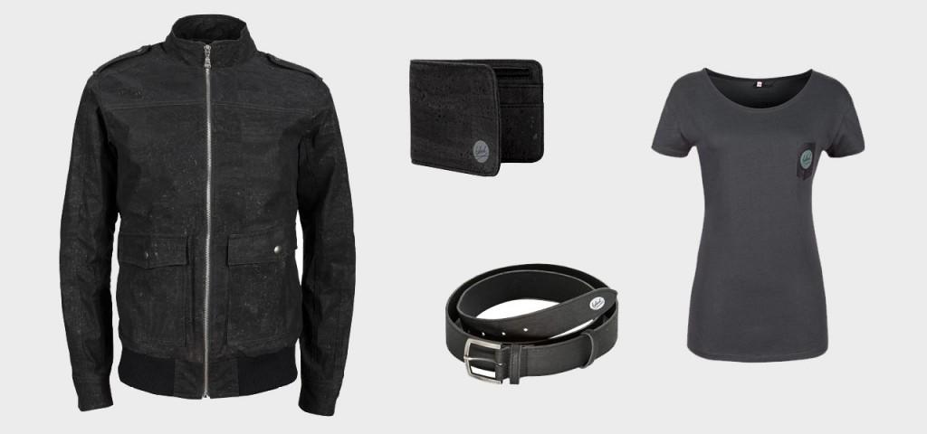 Lederjacke, T-Shirt, Gürtel, Portemonnaie: Si sieht die neue Kork-Kollektion von bleed aus