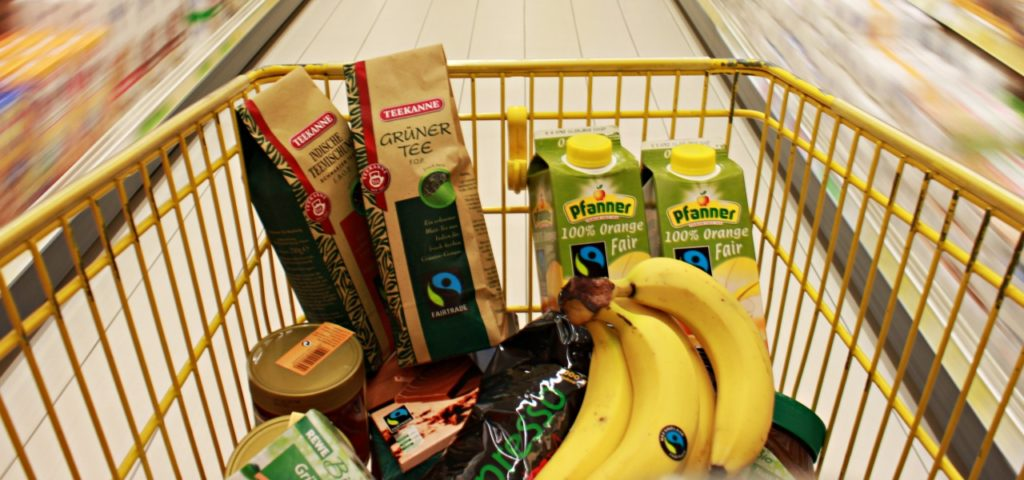 Fair gehandelte Produkte mit Fairtrade-Siegel