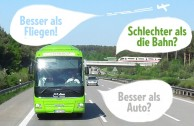 Wie Öko ist der Fernbus im Vergleich zu Bahn, Auto, Flugzeug?