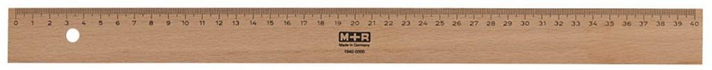 Holzlineale halten meist länger als solche Plastik, auch hier sind unlackierte Modelle optimal zum Schulstart.