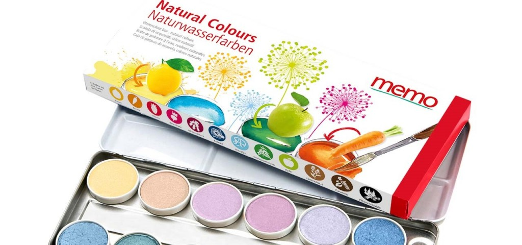Zum Schulanfang nur Malsachen, die auf Naturfarben beruhen, hier etwa ein Malkasten mit Lebensmittelfarben und DIN EN 71.