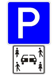 Carsharing-Parkschild