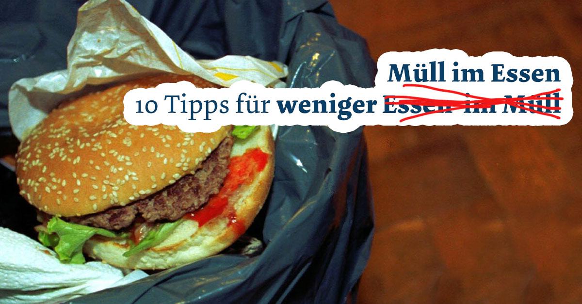 Tipps Weniger Essen
