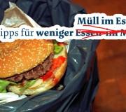 Müll im Essen