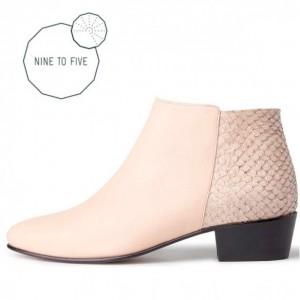 Schuh aus Lachs-Leder
