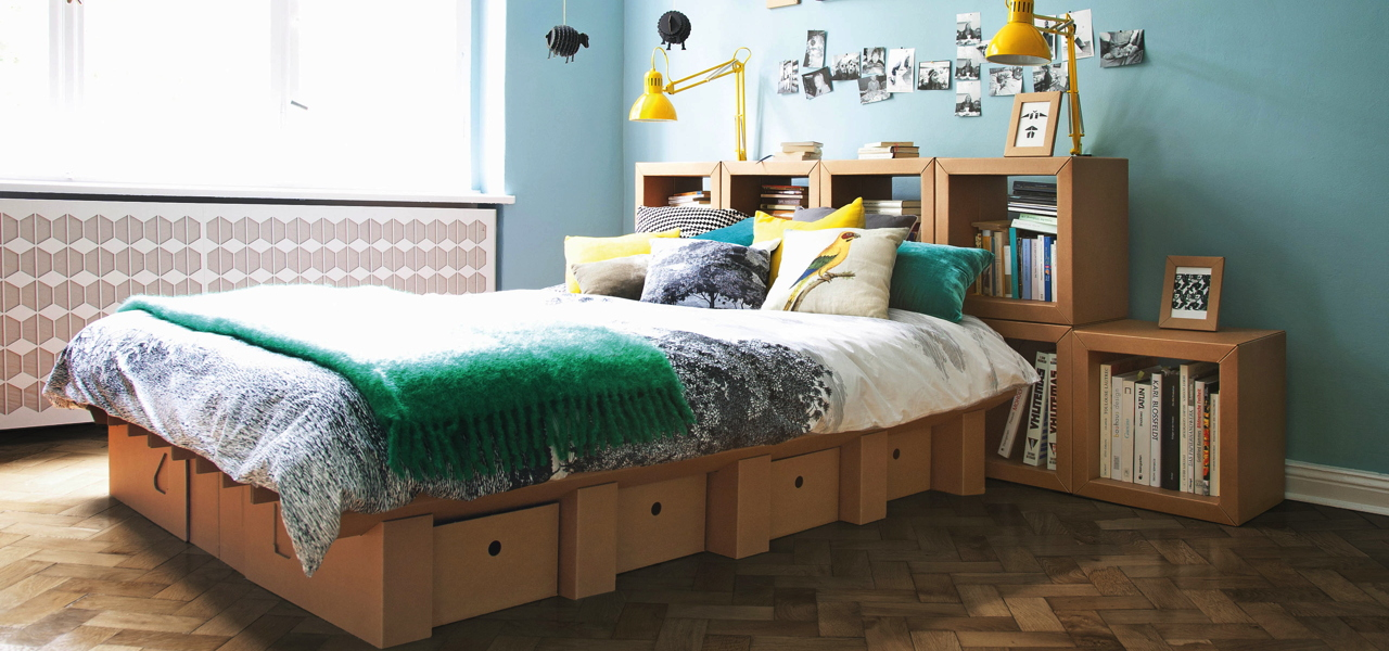m bel aus pappe langlebig nachhaltig und recycelbar. Black Bedroom Furniture Sets. Home Design Ideas