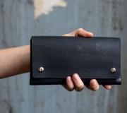 Origami Wallet Geldbeutel Kancha schwarz