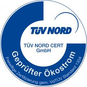 Ökostrom-Siegel TÜV Nord: Geprüfter Ökostrom (alte Version)
