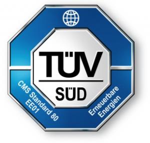 Ökostrom-Label: TÜV Süd EE01 (auch: EE02)