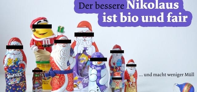 Der bessere Nikolaus ist bio und fair und macht weniger Müll