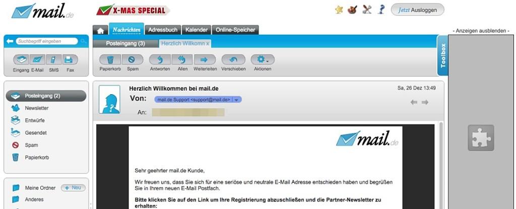 E-Mail-Anbieter Mail.de bietet alternative E-Mail-Adressen