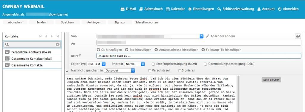 E-Mail-Anbieter ownbay.net
