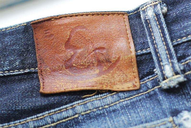 Jeans Leder Patch