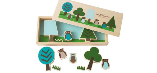 Holzset Spielzeug Kinder Eule von Dwell Studio