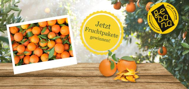 Gebana Fruchtpakete zu gewinnen