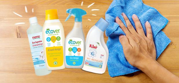 Empfehlenswert: Putzen mit ökologischen Reinigern oder Hausmitteln
