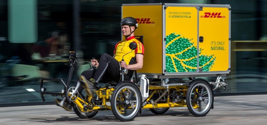 In den Niederlande setzt DHL das Lastenrad Cubicycle ein - mit einem Kubikmeter Liefervolumen.