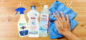 Putzen mit nachhaltigen Putzmitteln: Ecover, memo, Klar