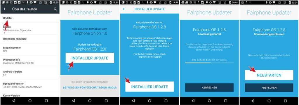 Fairphone Update: Fairphone OS 1.2.8 für Fairphone 2