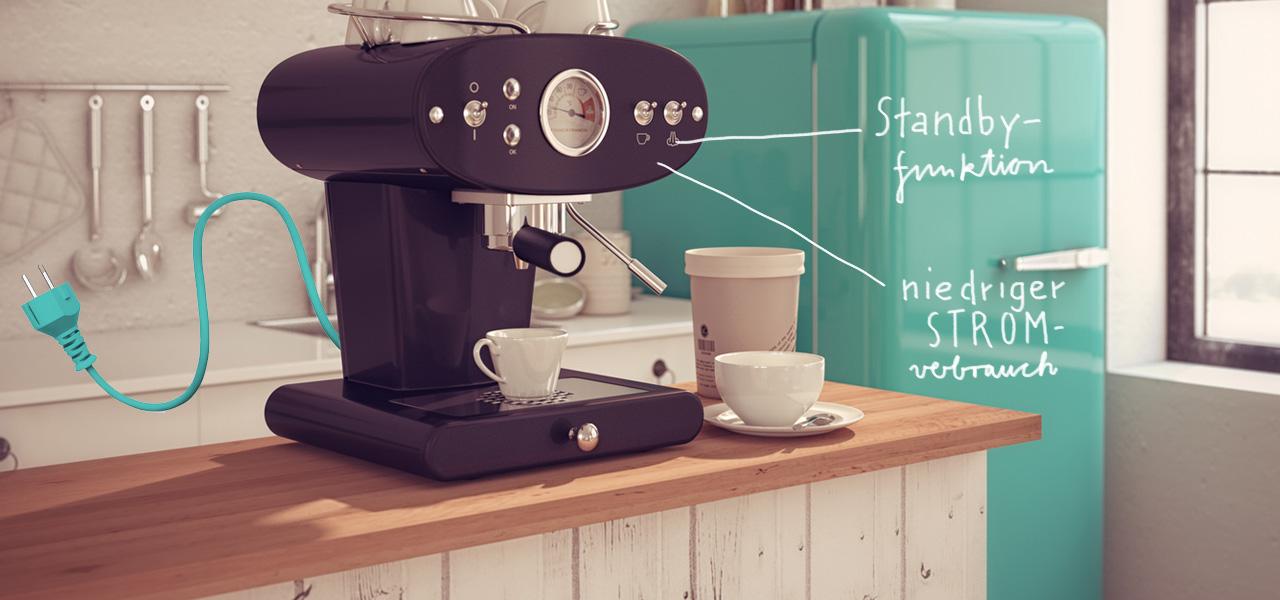 stromverbrauch kaffeemaschine g nstige k che mit e ger ten. Black Bedroom Furniture Sets. Home Design Ideas