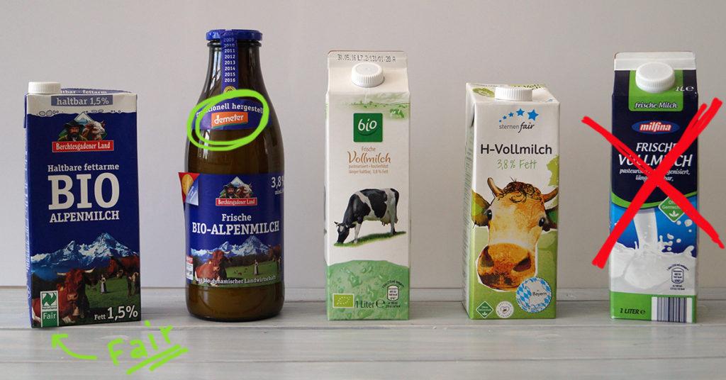 Biomilch und faire Milch: fairer als konventionelle Tiefpreis-Ware
