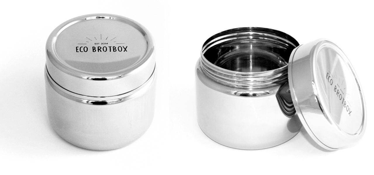 neue lunchbox aus edelstahl ist auslaufsicher. Black Bedroom Furniture Sets. Home Design Ideas