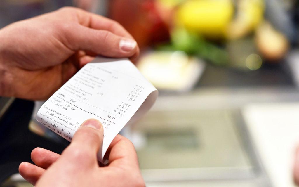 BPA im Kassenbon: Kassenzettel enthalten oft Bisphenol A