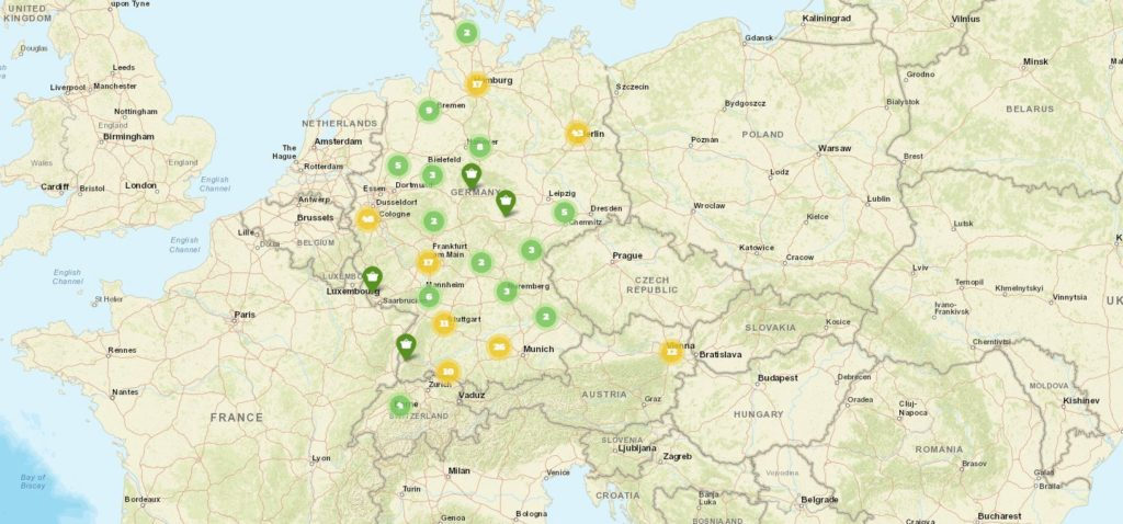 foodsharing-Abholpunkte in Deutschland, Österreich und der Schweiz