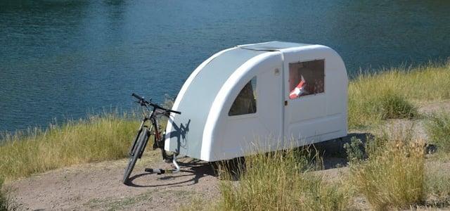 Der Wohnwagen-anhänger fürs Fahrrad, so radelst du minimalistisch in den Urlaub