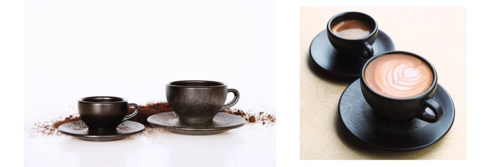 Kaffeefrom: Cappussinotassen und Espressotassen aus Kaffeesatz