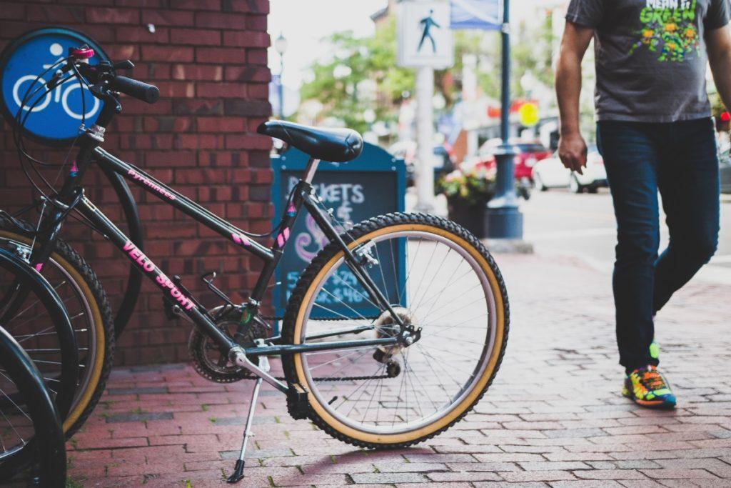 Fahrrad in der Stadt: nachhaltig leben