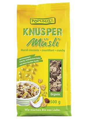Gesundes Müsli: Bio-Knuspermüsli von Rapunzel