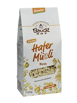 Gesundes Müsli: Nussmüsli von Bauckhof