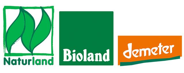 Bio-Siegel: Naturland, Bioland, Demeter
