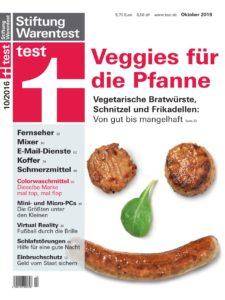 Stiftung Warentest 10/2016: Veggie-Fleischersatz