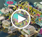 Selbstgebaute, autarke Insel in Kanada