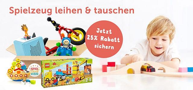 meine Spielzeugkiste mit 25% Rabatt auf alle Kisten