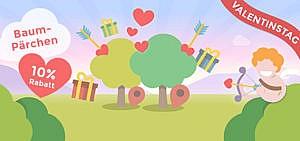 Grüne Alternative zur roten Rose: Baumpaar verschenken zum Valentinstag!