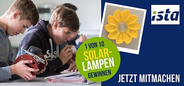 """Mit """"ista macht Schule"""" 10 Solarlampen von Little Sun gewinnen"""