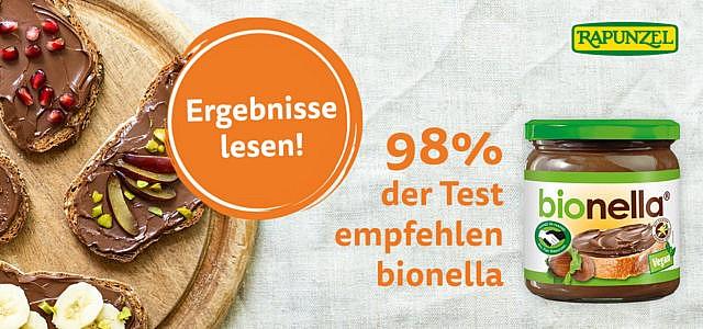 Produkttest mit Rapunzel – so wurde die Bio-Nuss-Nougat-Creme bionella bewertet!