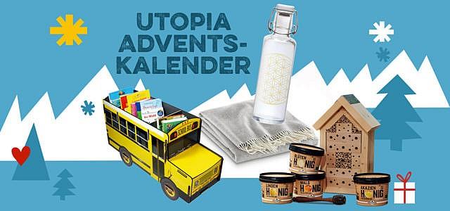 Utopia Adventskalender gewinne nachhaltige Produkte